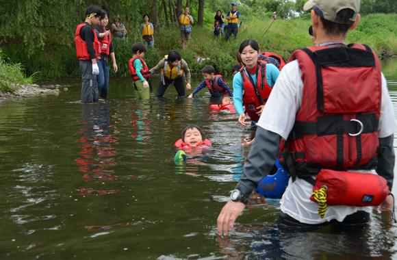 川の安全教室 ~かっぱの川流れ~