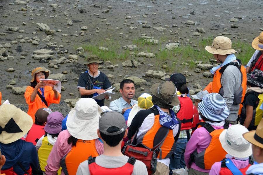 多摩川河口干潟の生きもの観察会