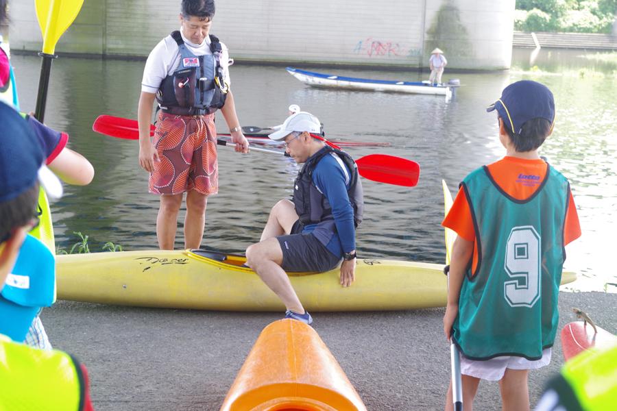 多摩川カヌー教室