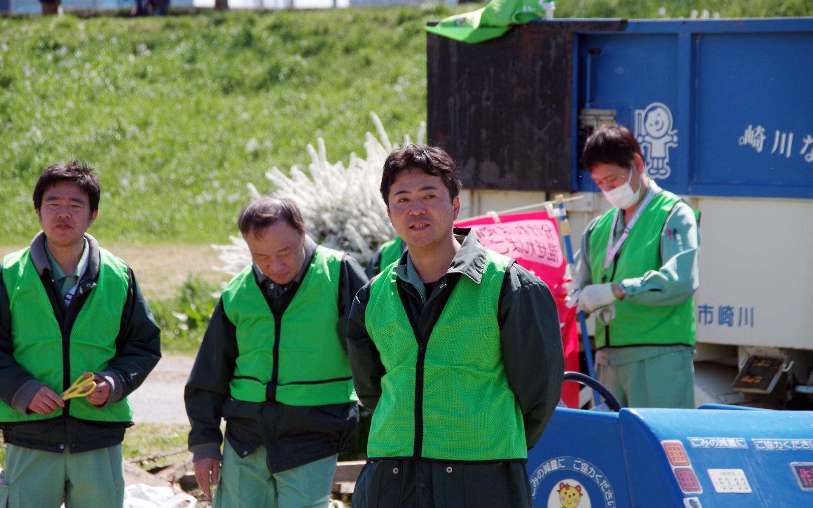 多摩川クリーンアップ・焼き芋大会